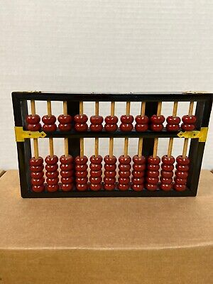 Wood Chinese Abacus Lotus Flower Brand 77 beads 11 Rods