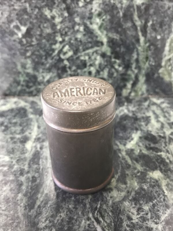"""Antique /Vintage """"American Quality Snuff Since 1782"""" Tin (e)"""