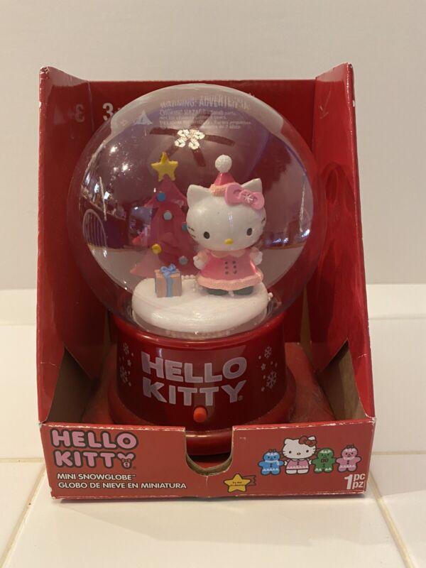 Hello Kitty Musical Holiday Christmas Snow Globe Plays 10 Holiday Songs Sanrio