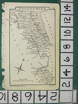 c1833 GEORGIAN MAP ~ FLINT ST ASAPH MOLD CAERGWRLE