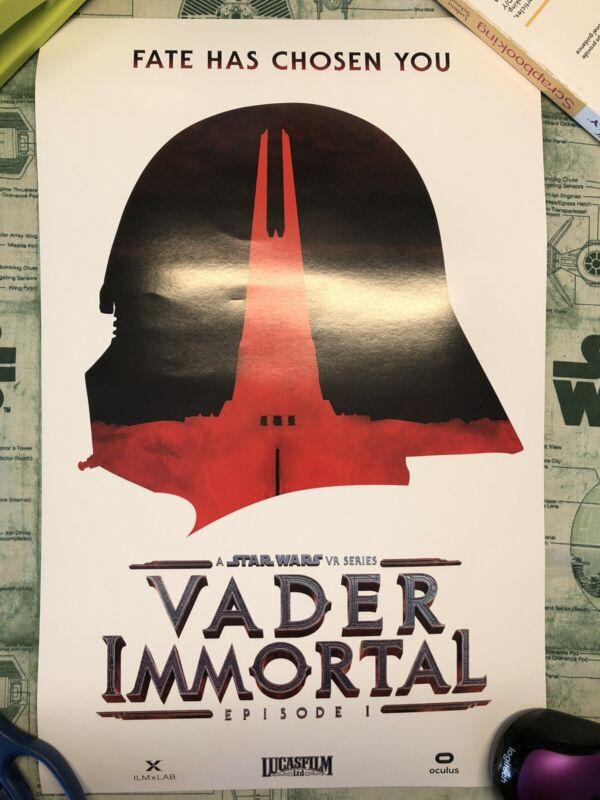 Star Wars Celebration Chicago 2019 Vader Immortal Lucasfilm Exclusive Poster