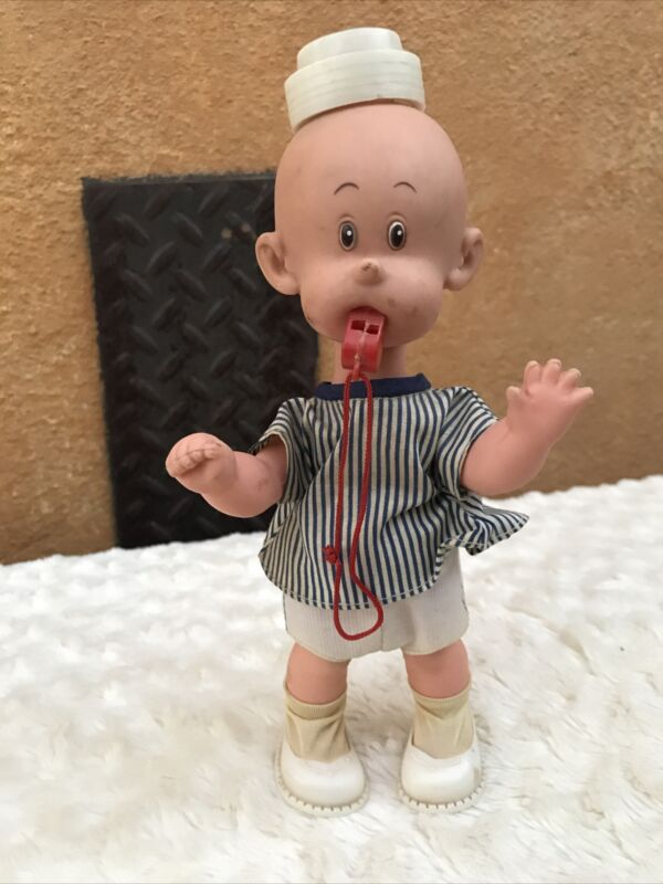Vtg Perfekta CARL ANDERSON Jointed Doll HENRY Comic strip Boy dressed w whistle
