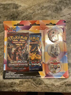 Pokemon XY Evolutions + Sun & Moon Crimson Invasion 3 Pin Blister Booster Packs