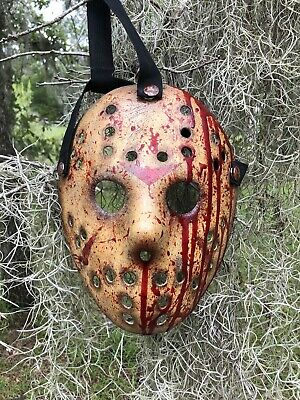 Jason Voorhees Freddy Vrs Jason Custom Hand painted Mask-high Quality Art - Masquerade Custome
