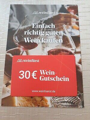 Weinfürst Gutschein 30,-