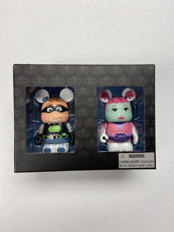 "Disney Vinylmation SDCC Urban Series Boy Girl Superhero Set Series Box New 3"" LE"
