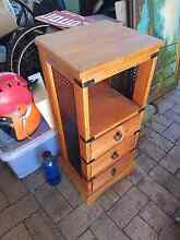 Timber bedside table wooden drawers draws Joyner Pine Rivers Area Preview