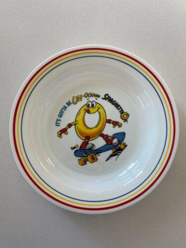 Vintage SpaghettiOs Corelle Bowl Skater Skateboarding Microwaveable Made in USA
