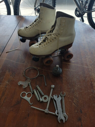 Ladies Vintage (Riedell?) Roller Skates with Powell wheels