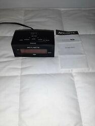 AcuRite 13002 Intelli-Time Digital Alarm Clock Black