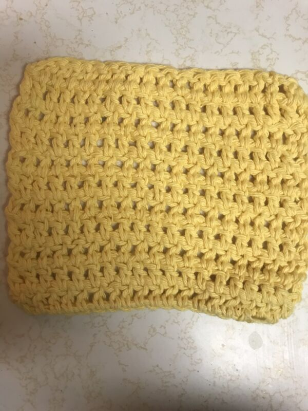 Crochet Dishcloths / Washcloths (handmade) -Yellow