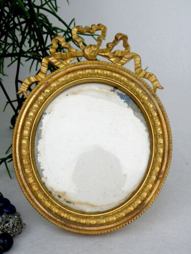 Antique French Bronze Picture Frame Nap. 3 oval Form