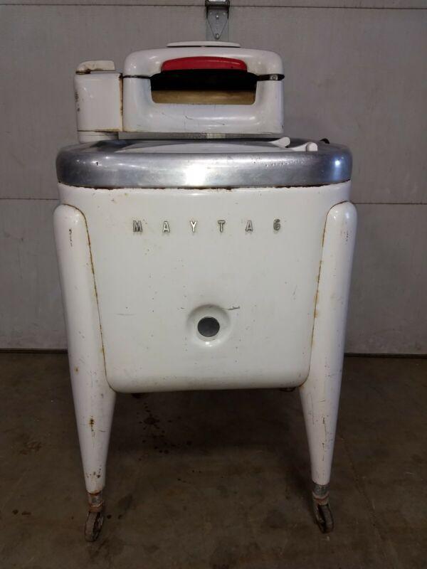 Vintage Maytag Wringer Washer Art Deco retro cool!  Ser # 30085rv