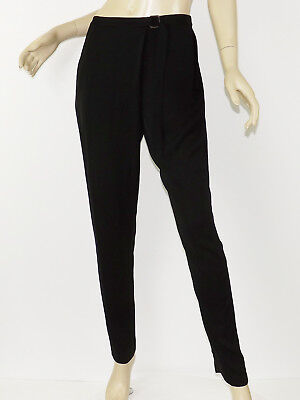 NWT TRACY REESE Lab Solid Black SURPLICE PANTS Pleat Front Tapered Leg M