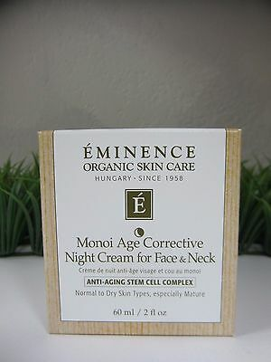 Eminence Monoi Age Corrective Night Cream for Face & Neck 2oz, NEW IN BOX