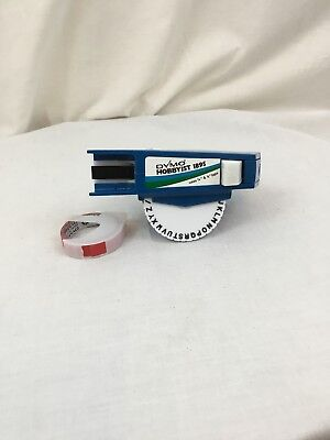 Vintage Blue Dymo Hobbyist 1895 Embossing Label Maker And Tape