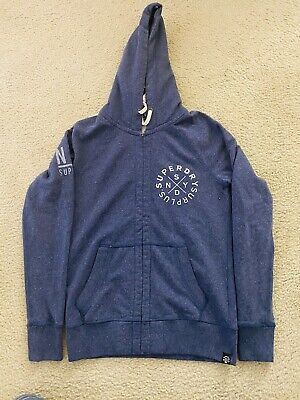 MENS * SUPERDRY Surplus NY  * FULL ZIP FRONT HOODIE TOP SIZE Small