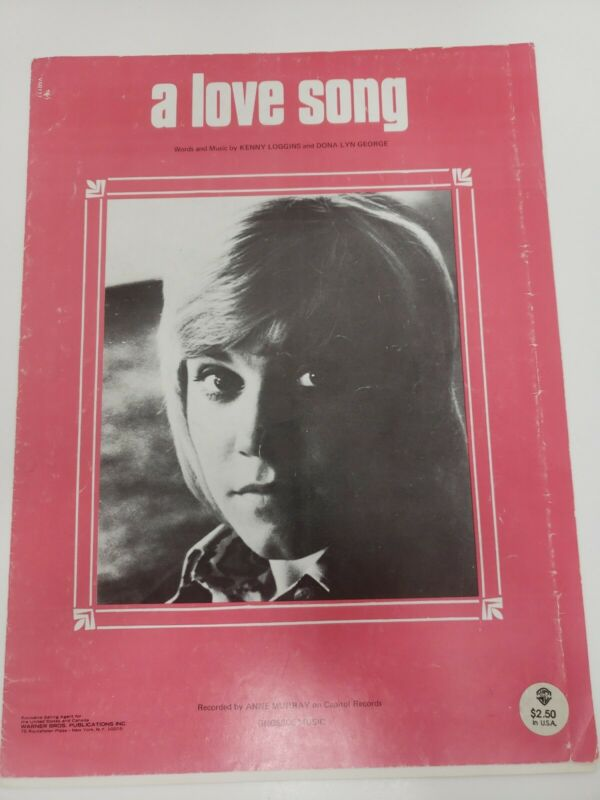 "ANNE MURRAY ""A LOVE SONG"" SHEET MUSIC-PIANO/VOCAL/GUITAR/CHORDS-RARE-1974"