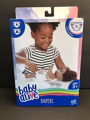 New In Box Baby Alive Diaper Refills 18 Pack By Hasbro For Doll