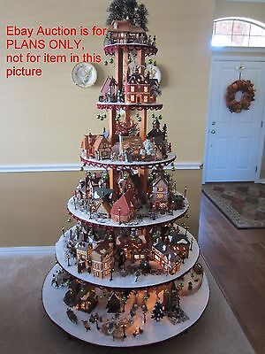 INSTRUCTIONS FOR Dept 56 Lemax Christmas Halloween Village Display Stand