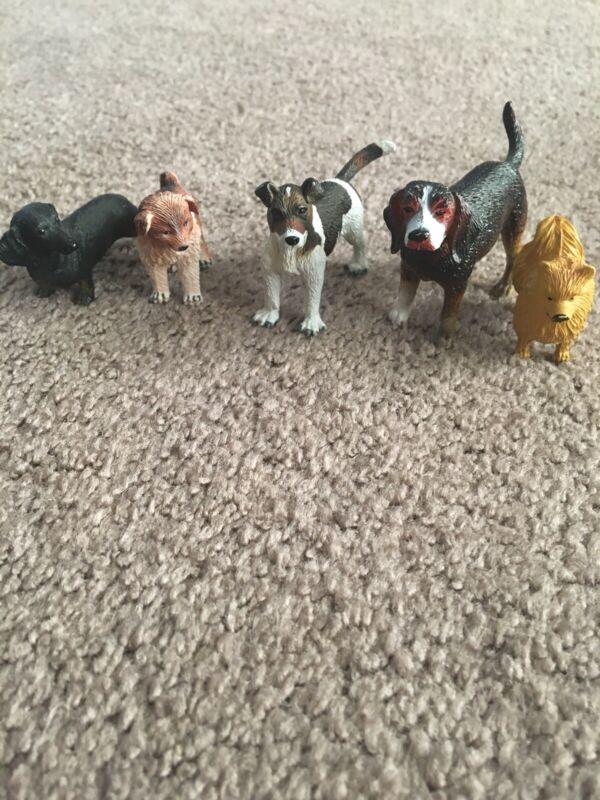 dog figures lot