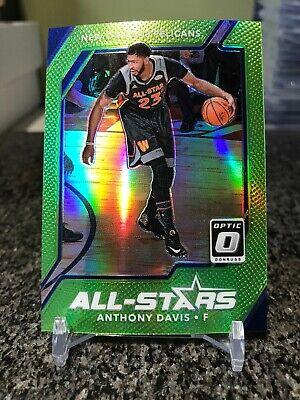 2017-18 Optic All-Stars #5 Anthony Davis Slime Green Prizms Refractor SP - Slime Basketball