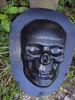 New Cement Plaster (Skull plastic mold plaster cement concrete mould 8.5