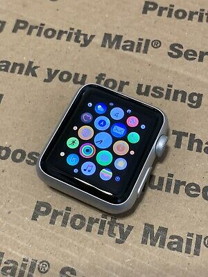 Apple Watch 38mm Series 0 / 7000 Silver Aluminum Case Watch Only, *Image Burn*