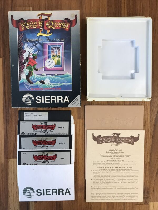 King's Quest II: Romancing the Stone - Apple II Sierra 1985 VTG Game Box Booklet