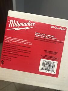 Milwaukee miter saw stand brackets