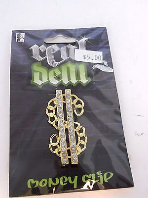 Rhinestone Dollar Sign Money Clip Gangster Costume Accessory Halloween ](Dollar Sign Halloween Costume)