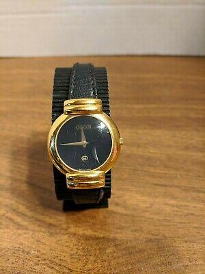 VTG Ladies Original Gucci Watch 6 Jewels #5300J & 0016262 Gold Plated Swiss Made
