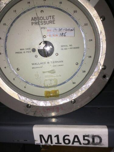 Pennwalt Wallace & Tiernan Model FA 160/FA160 Absolute Pressure Gauge/Meter