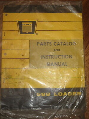 Oliver 588 Loader Parts Operators Manual