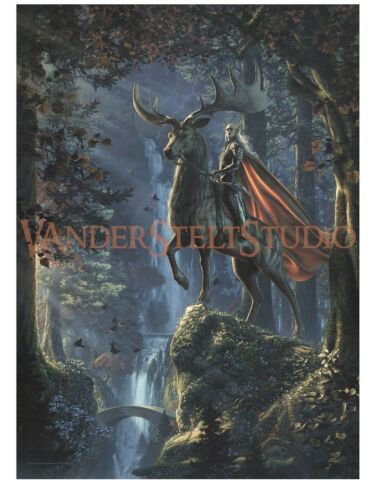Thranduil:King of the Woodland Realm PAPER GICLEE 18X24 by Jerry VanderStelt
