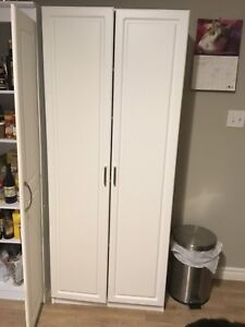 Brand new cabinetry white  AmeriWood kitchen pantry/storage