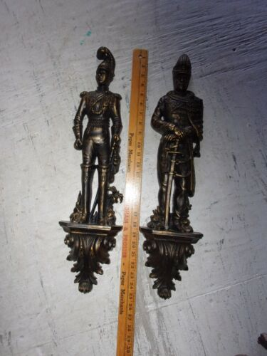 SET OF 2 BURWOOD SOLDIERS WALL HANGING DECOR MID-EVIL SWORD