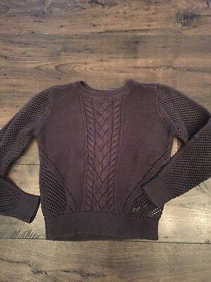 Gap Kids Girl Gray Long-sleeve Sweater Size L (10), Fits Like Size 8