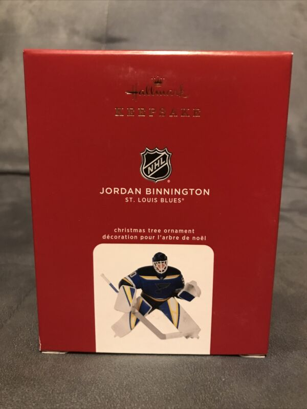 Hallmark 2020 Jordan Binnington St Louis Blues NHL Keepsake Ornament