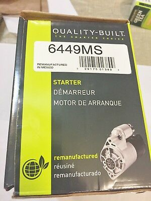 QUALITY BUILT STARTER MOTOR REMAN 6449MS 01-02 CHEVY SILVERADO 3500  BEST