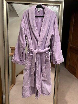 Purple Lilac Versace Cotton Bath Robe Dressing Gown Size L/XL
