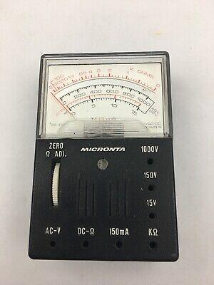 Vintage Nos Micronta 1000 Ohms Volt Multitester Cat Radio Shack No Test Leads