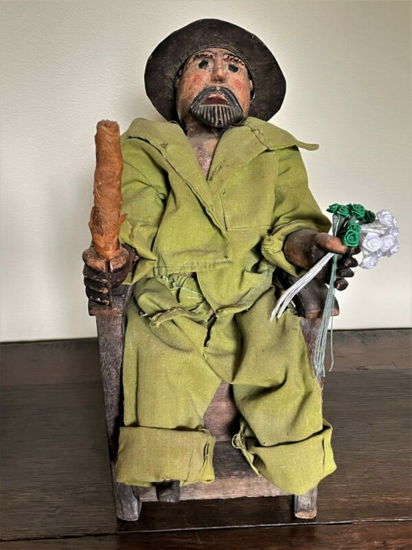 Vintage Guatemalan Folk Art Doll Saint Maximon San Simon