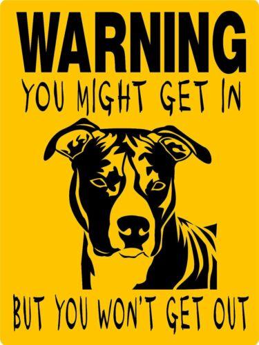 "0589 Pit Bull Terrier 12""x18"" Aluminum Sign"