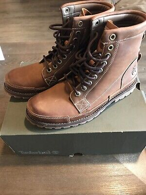 """Timberland Men's Leather Earthkeepers Original 6"""" Brown Lace-Up Boots"""