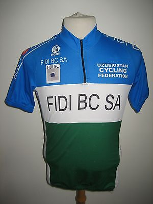 Uzbekistan national federation rare vintage jersey shirt cycling maillot size M image
