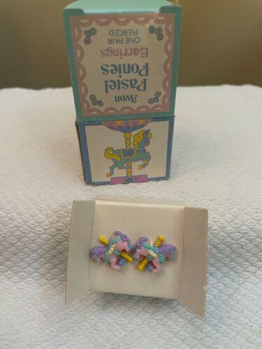 Avon Vintage 1992 Pastel Ponies Pierced Earrings