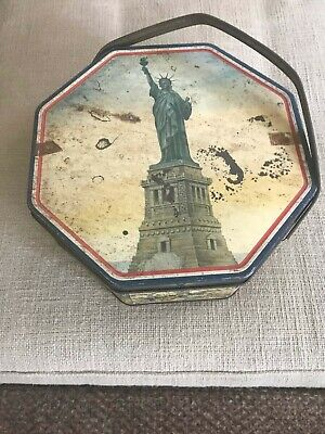 STATUE OF LIBERTY SUNSHINE BISCUIT TIN LOOSE WILES BISCUIT CO., NEW YORK NY