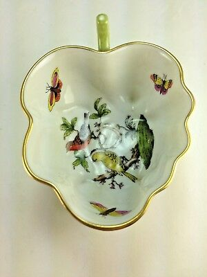Herend Hungary Numbered Leaf Dish /bowl Birds Butterflies - Hand Painted # 680