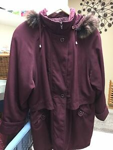 Women's winter coat with removable hood
